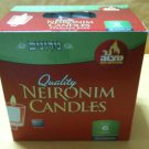 NER MITZVAH 72CT 6 HOUR NEIRIOT SHABBOS CANDLE NIB