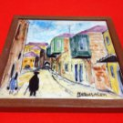 EIN REB TILE  JERUSALEM STREET CERAMIC PLAQUE ISRAEL