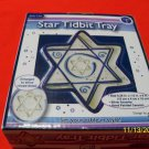 HANUKKAH CHANUKAH STAR TIDBIT TRAY JUDAICA NEW