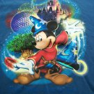 DISNEY MICKEY MOUSE FANTASMIC BLUE T SHIRT S SM SMALL