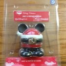 DISNEY CHRISTMAS SANTA SALT PEPPER SHAKER NEW