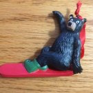 CHRISTMAS TREE ORNAMENT BEAR SKI TREE FARM CANADA