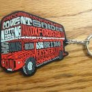 707 FL EPCOT UK DOUBBLE DECKER BUS KEY CHAIN