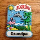 083 FLORIDA GRANDPA BEACH PALM TREE REFRIGERATOR MAGNET