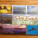 1081 FLORIDA VERO BEACH SKYLINE REFRIGERATOR MAGNET
