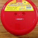 MICROWAVE SPLATTER COVER DINNER PLATE SIZE RED NEW