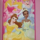 WALT DISNEY SIX PRINCESS FLEECE THROW WDW NEW