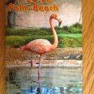 655269 I LOVE PALM BEACH FLAMINGO REFRIGERATOR MAGNET