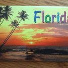 655006 FLORIDA BEACH SUNSET PALM REFRIGERATOR MAGNET