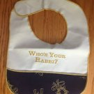 WHO'S YOUR RABBI BABY BIB NEW KOSHER L'PESACH MINT