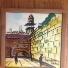 EIN REB TILE CERAMIC PLAQUE WAILING WALL TEMPLE ISRAEL