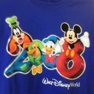 DISNEY WORLD 2008 T SHIRT MICKEY MOUSE L LARGE NEW