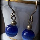 Vintage antiques blue cats eye earrings