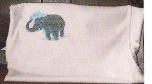 CUSTOM EMBROIDERED BATHING ELEPHANT