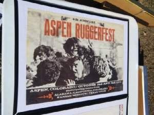 Aspen Colorodo Ruggerfest Poster 4th annual 1971