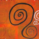 "15"" x 21"" Poster-Print ""Orange Rust Swirl"""