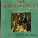 Bach - St Matthew Passion, Arias and Choruses (CD 1997) 24HR POST