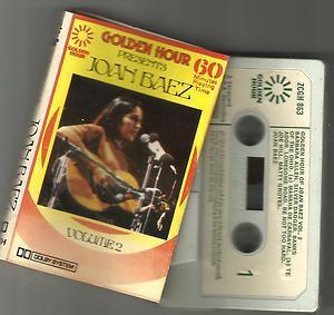 Joan Baez �� Golden Hour Presents  Vol 2 CASSETTE 1976 ORIGINAL USA VANGUARD