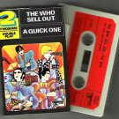 The Who ‎– A Quick One / The Who Sell Out CASSETTE 1975 TRACK RECORDS