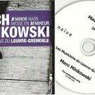 MARC MINKOWSKI - J S BACH  -RARE PROMO- LES MUSICIENS DU LOUVRE CD 2008