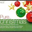 Various : Pure Christmas  (4xCDs 2011) 24HR POST Whitney Houston  Bob Dylan Wham