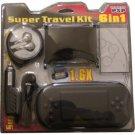 PSP Super Travel Kit - Case- - Magnifier - Car Adapter - Lens - Winding Earphone