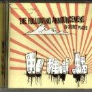 Following Announcement : In Secret Places (CD 2008) 24HR POST