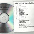 Ben Harper - Burn To Shine -RARE OFFICIAL ALBUM PROMO- (CD 1999) 24HR POST