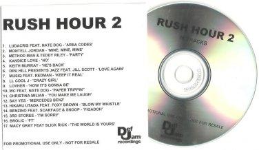 Soundtrack - Rush Hour 2 -OFFICIAL ALBUM PROMO- ( CD 2001) 24HR POST