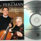 Mendelssohn - Piano Trios -RARE OFFICIAL PROMO- (CD 2010) Emanuel Ax - Yo-Yo Ma
