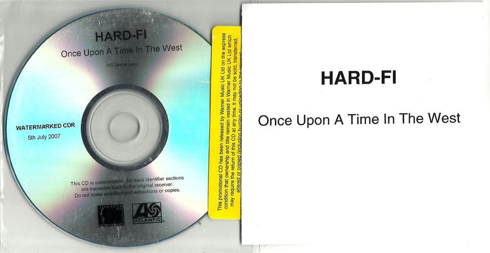 Hard-Fi - Once Upon a Time in the West  -RARE OFFICIAL NUMBERED PROMO- (CD 2007)