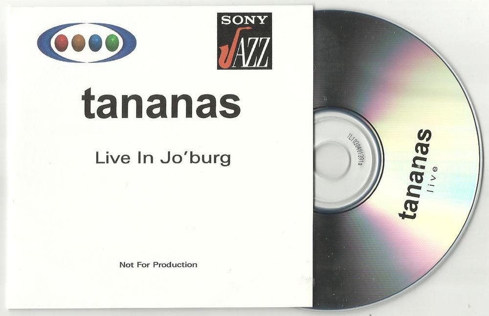 Tananas - Live in Jo'burg  -OFFICIAL RARE PROMO- (CD 2001)   24HRPOST