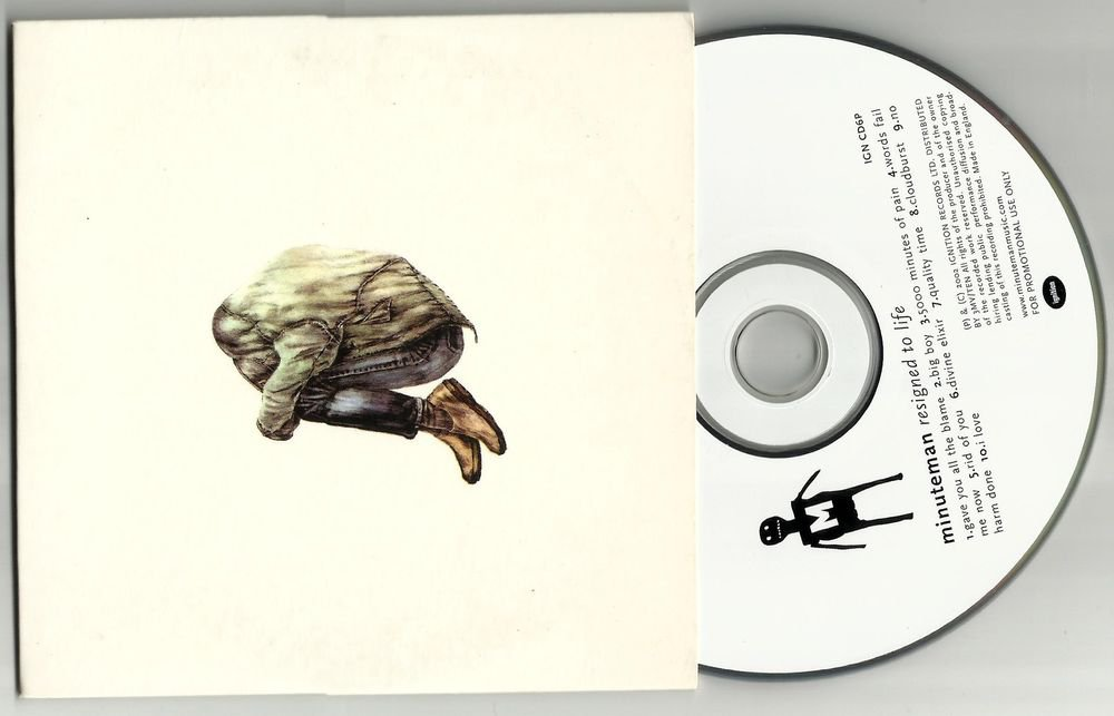 Minuteman : Resigned to Life  -RARE OFFICIAL PROMO- CD 2002 PA  24HRPOST