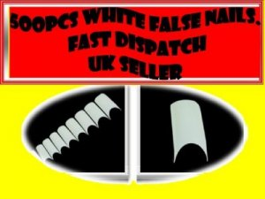 500 WHITE FRENCH FALSE ACRYLIC NAIL ART TIPS GEL MAKEUP