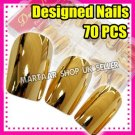 chrome Sexy METALLIC French Acrylic Artificial Full FALSE NAIL Art Tips FREE BOX