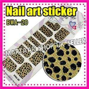 Nail Art magic Sticker leopardstyle Colorful Patch Foils Armour wraps Decoration