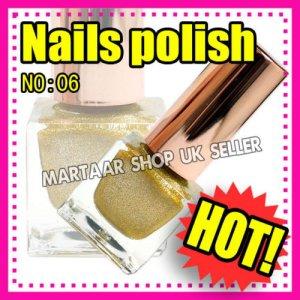 New hand beauty metalic nail polish varnish. Use on natural or false nails GOLD