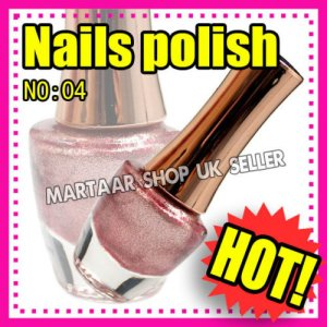 New hand beauty metallic nail polish varnish. Use on natural or false nails PINK