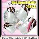 Celebrities Pre Designed hand beauty acrylic fake False Nails Art with Free Glue