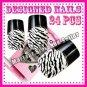 TIGER  PRE DESIGNED HAND BEAUTY ACRYLIC Nail Art false nails Tips  free Glue.