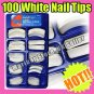Sexy white hand beauty acrylic fake tips false nail tips art french design