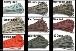 50' PARACORD - PARA CORD 550 - PARACHUTE CORD -- 50 ft GENUINE 7STRANDS