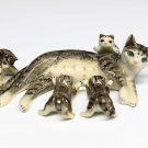 Animals Ceramic 1 Set Black Cat Family Ceramic Figurine Hand painted