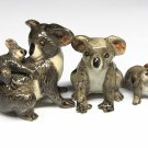 Animals Ceramic 3 pcs Big Koala Bear Family Ceramic Figurine Hand painted