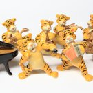Animals Ceramic Tiger Music Set Ceramic Figurine Hand painted