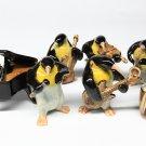 Animals Ceramic Penguin Set Music Ceramic Figurine Hand painted