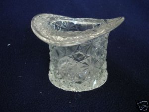 Fenton Clear Glass Daisy and Button Top Hat