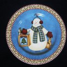 Sakura Debbie Mumm Jolly Snowmen Bag  Salad Plate