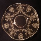 """Heisey Orchid on 10"""" Queen Ann Demi Torte Serving Plate"""