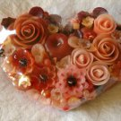 Handmade Decorative Scented Floral Heart Candle P07B